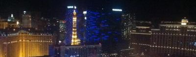 The view from the High Roller observation wheel at the Linq.